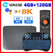AX95 DB Android TV Box Max 4GB 128GB Android 9.0 Amlogic S905X3 4K 8K supporto Dolby BD MV ISO Dual Wifi Youtube 4K Set top Box