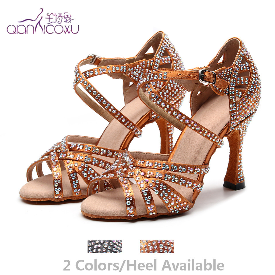 Professionally Salsa Jazz Ballroom Latin Dance Shoes For Dancing Women Urban Czech Women High Heels 1046 Summer Sandals