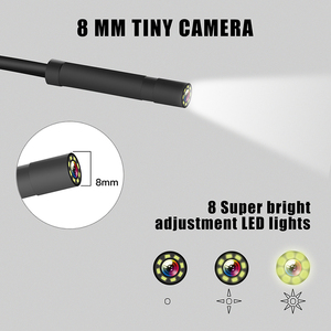 Image 5 - Wireless Inspection Camera WiFi Endoscope 2.0 MP 1080P HD Borescope Rigid Snake Cable WIth 8 LED for IOS iPhone Android Tablet