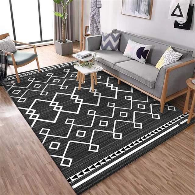 Gray Black Diamond Living Room Carpet