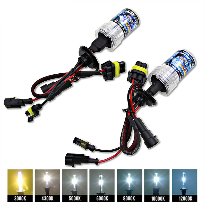2PCs 12V 55W Xenon H4 Bulbs H7 H1 H3 HID Conversion KitH11 H8 9005 Auto Car Headlight Halogen Lamp 3000k 4300k 5000K 6000k 8000K