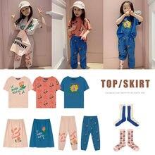 Kids T-shirts Boys O-Neck T-shirts Girls Short-sleeved Tops Cute Cartoon T Shirts Spring Summer 2021 Children's Clothing 1-11Y