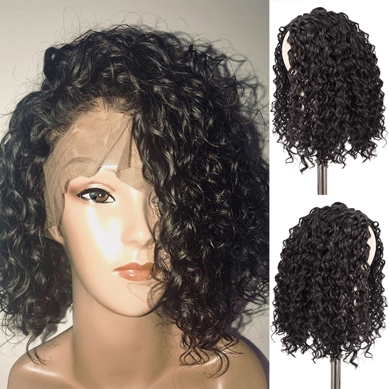 Deep Curly 13x4 Lace Front Brazilian Remy Hair Remy 100% Human Hair Extension Nature Short Curly For Women Swetcurly