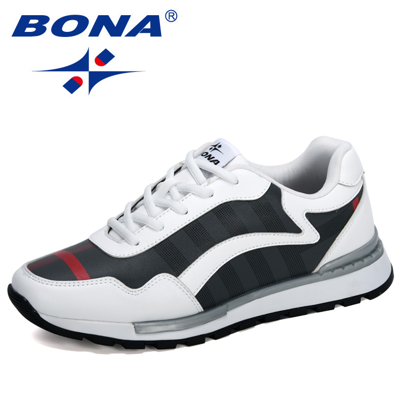 BONA 2020 New Designers Casual Sneakers Men Shoes Outdoor Breathable Comfortable Male Walking Footwear Leisure Shoes Man Trendy