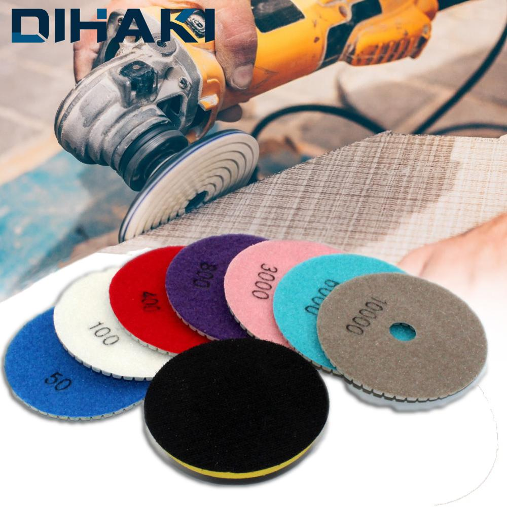 16pcs Diamond Polishing Pads Set 100x4mm M14 Wet/Dry For Granite Stone Concrete Marble Polishing Grinding Discs Abrasive Tools