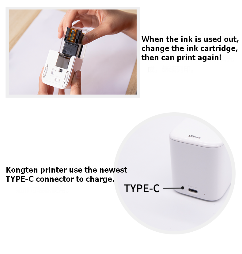 Works On Any Material With Tri-color ink cartridge
