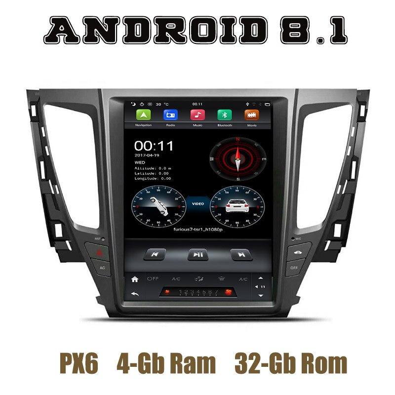 12.1 IPS écran PX6 Tesla Style android 8.1 autoradio lecteur gps pour mitsubishi pajero sport 2017 2018 2019 avec wifi usb 4 + 32G