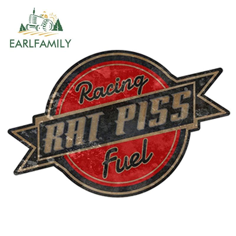 EARLFAMILY 12cm X 8.5cm Rat Rod Rat Piss Racing Fuel Decal Racing Parts Car Sticker Bumper Window Side Decal DIY Car Body Decals