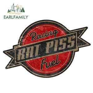 EARLFAMILY 12cm x 8.5cm Rat Rod Rat Piss Racing Fuel Decal Racing Parts Car Sticker Bumper Window Side Decal DIY Car Body Decals(China)