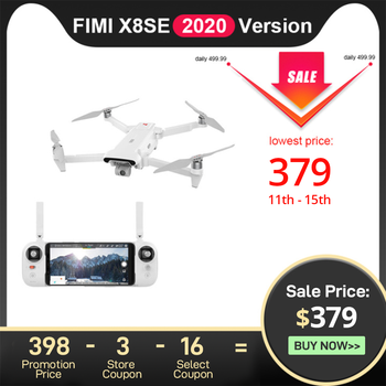 FIMI X8SE 2020 Camera drone 4k profissional 8KM FPV 3-axis Gimbal 4K Camera HDR Video GPS 35mins Flight Time RC Quadcopter RTF
