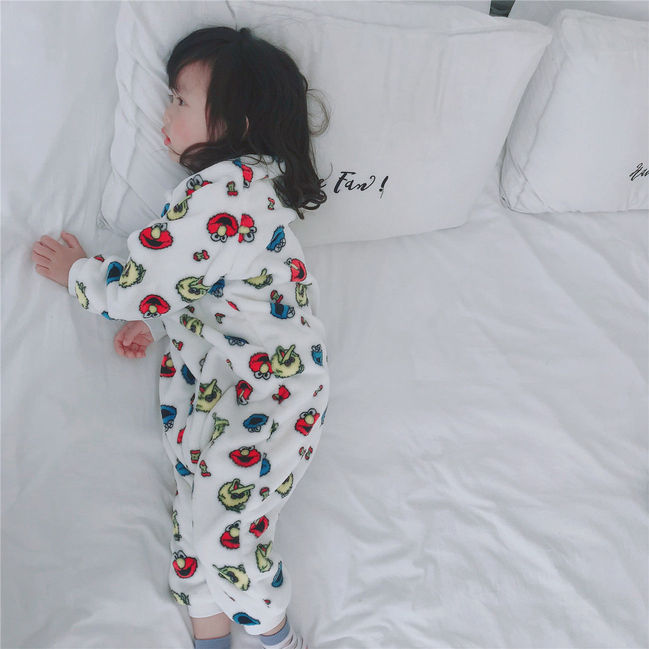 2019 Autumn & Winter CHILDREN'S Pajamas Double-Sided Flannel Sleeping Bag Baby Tracksuit Cartoon Warm Pajamas