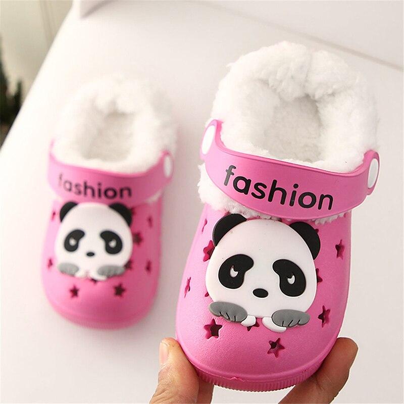 Детские сандалии; детские тапочки; сезон лето-осень; обувь для малышей; Домашние сабо с вырезами; обувь для пляжа и сада; съемная шерстяная нескользящая обувь - Цвет: rose red 2