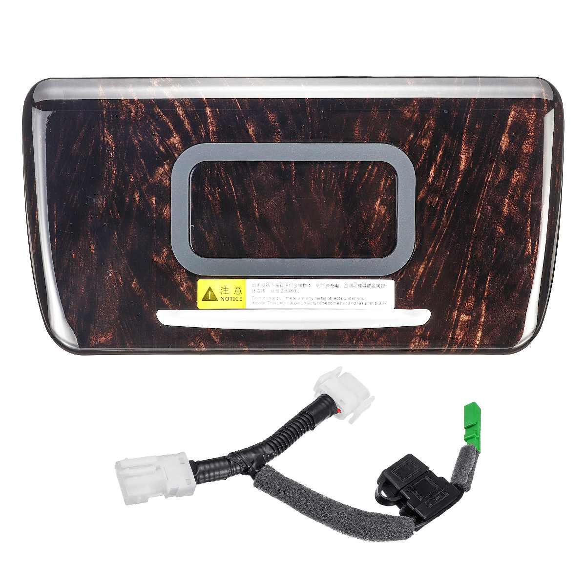 Горячая 1 шт. Деревянный Цветной Автомобильный быстрый беспроводной зарядный держатель для телефона Зарядка для BMW F18 5 серии