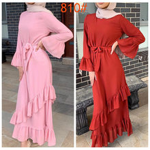 Girl Abaya Kimono Cardigan Dubai Kaftan Islam Muslim Hijab Dress Abayas Turkish Islamic Clothing For Women Oman Djelaba Femme(China)