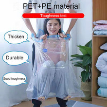 Hot Vacuum Bags For Clothes Bag Storage Organizer Transparent Foldable Large Compressed Travel Space Saving Bags Vacuum
