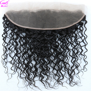 Water Wave Frontal Transparent Lace Frontal 13*4 Human Hair Closure Cheveux Humain Brazilian Remy Hair Swiss Lace Frontal Ariel(China)