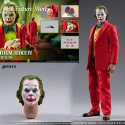 In Magazzino da Collezione 1/6 Mtoys MS008 Joaquin Joker Vestito Rosso Ver. Trucco Testa Scolpire con Maschera Set Set Completo Action Figure Modello