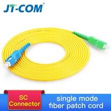 Sc singlemode cabo de remendo da fibra ótica sc APC UPC sm 2.0 ou 3.0mm 9/125um ftth cabo de remendo da fibra ótica jumper 3m 10m 30m