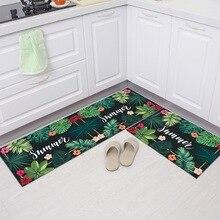 Flower Leaf Kitchen Rug Rugs Floor Mat Carpet For Living Room Doormat  001