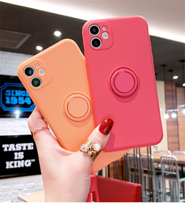 Image 1 - Luxury Liquid Silicone Case For iPhone 11 Pro Max 12 Protector Case For iPhone XS MAX XR X 7 8 6S PLUS SE2 2020 Cover With Strap