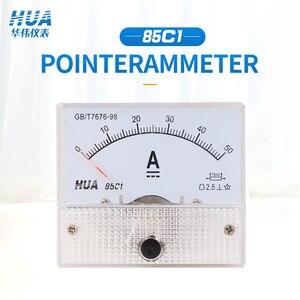 Painel analógico size56 * 64mm do amperímetro da c.c. 85c1 1a2a3a5a10a15a20a30a/75mv 50a/75mv etc, venda direta da fábrica, especificações completas