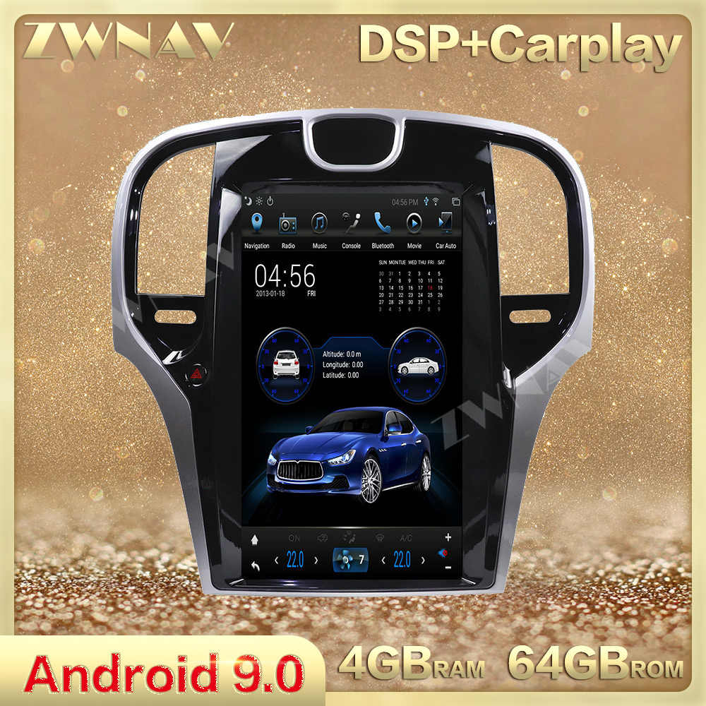 Layar Vertikal Tesla Gaya Android 9.0 Car Multimedia Player For Chrysler 300C 2013-2019 GPS Navi Audio Radio Stereo kepala Unit