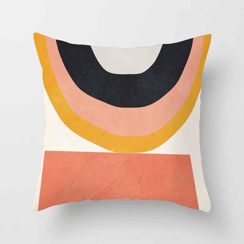 Styl skandynawski abstrakcyjna geometria poszewka poliester dekoracyjny poduszki Home Decor Sofa samochód talia poszewka 45x45cm 40857