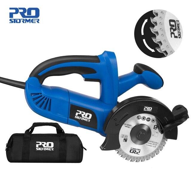 1050W Electric Circular Saw Fast Cutting Wood Metal Marble Tiles,230V Mini Electric Saw Dual Blade Metal Cutting Machine 1