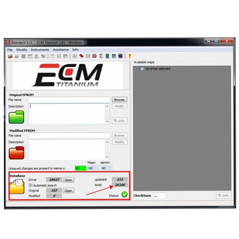 Программное обеспечение ECM Titanium V1.61 с 26100 драйверами ECU для KTAG и K- ESS V2, многоязычное устройство с драйвером 18259 +