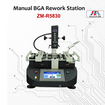 CE Approved ZM R5830 Hot Air BGA Rework Station 3 Zones BGA Machine with Bga Tools for Mobile Chip Repair 1