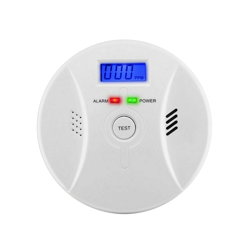 CO & Smoke Alarm Carbon Monoxide Smoke Integrated Detector Home Fire Warn Sensor(Only CO Alarm)