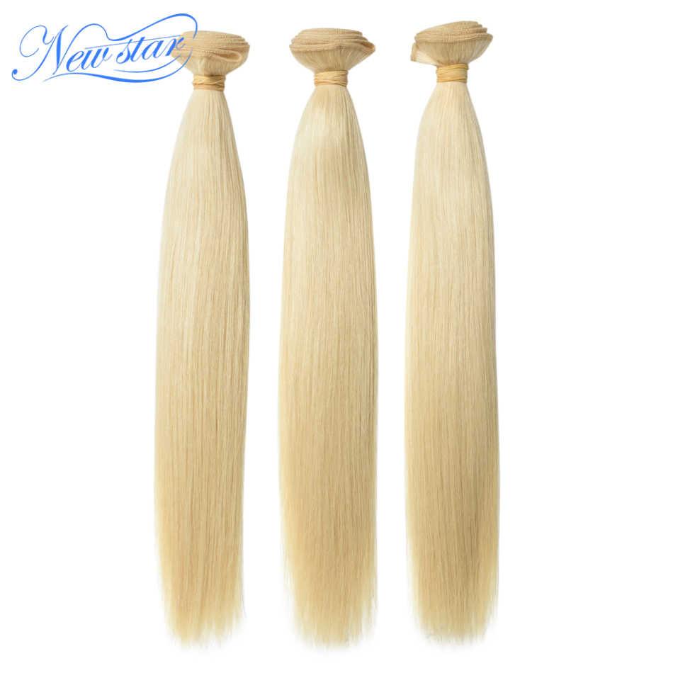 Braziliaanse 613 Straight Virgin Haar 3 Bundels Extension Honing Blond 100% Human Hair Weven Nieuwe Ster Dik Haar Producten