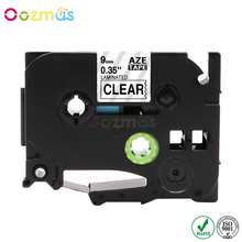 Oozmas AZe 121 Label Ribbons 9mm compatible Brother P-touch Tapes TZ TZe TZ-121 TZe-121 Black on Clear Maker
