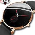 2020 LIGE новые мужские часы Топ бренд класса люкс ультра-тонкие силиконовые часы Мужские кварцевые наручные часы водонепроницаемые часы Relogio ...