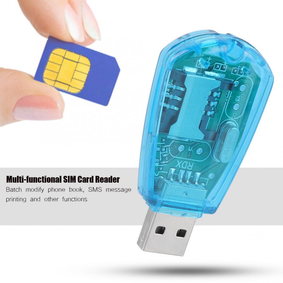 copier carte sim sur pc Mobile Phone USB SIM Card Reader USB Copy Cloner Backup Reader GSM