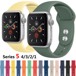 Спортивный силиконовый ремешок для Apple watch 4 band 44 мм 40 мм iwatch band correa aple watch 42 мм 38 мм наручный браслет, ремешок аксессуары