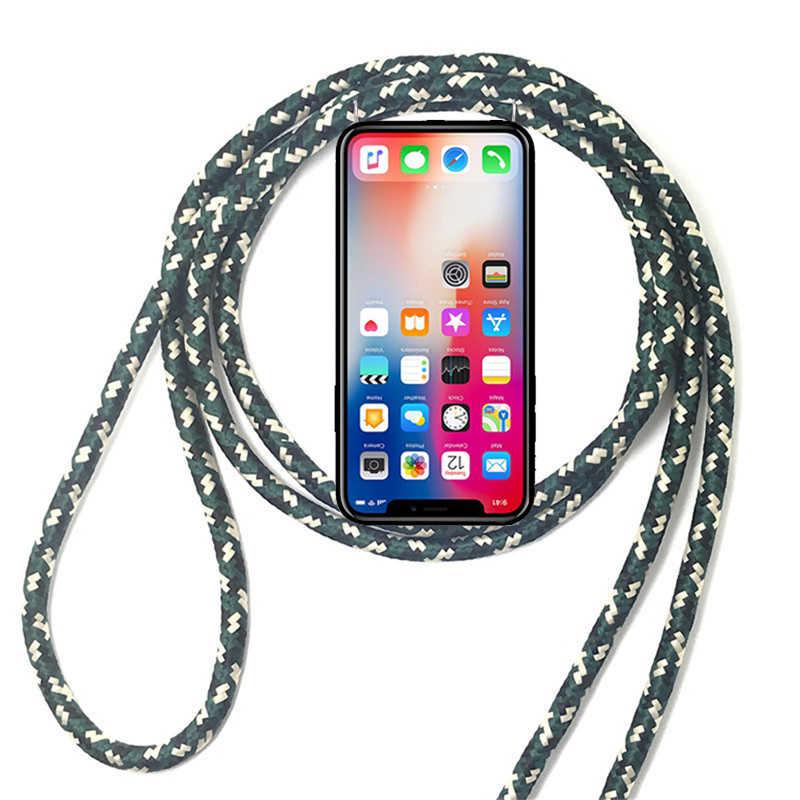 ل شياو mi mi mi x ماكس 2 2S 3 برو الأسود القرش Pocophone F1 لينة سيليكون الحبل قلادة أشرطة أكتاف وعنق حبل جراب هاتف