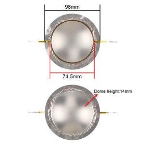 Image 4 - GHXAMP 75 الأساسية مكبر الصوت المتكلم ملف صوتي فيلم التيتانيوم 8ohm 74.5 مللي متر ثلاثة أضعاف المتكلم سلك دائري الحجاب الحاجز للمرحلة الصوت 2 قطعة
