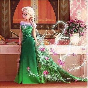 Косплей Костюм принцессы Эльзы из мультфильма «Холодное сердце 2», вечерние костюмы для детей, 2020