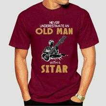 Ethely T-Shirt à manches courtes basique à col rond pour homme ne sous-estime jamais un vieil homme avec un Tops-4902D décontracté en coton Sitar