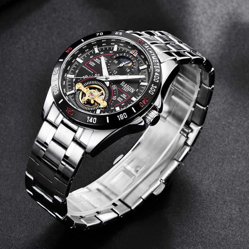 HAIQIN мужские/мужские часы Топ Бренд роскошные часы Мужские механические военные водонепроницаемые наручные часы мужские s Tourbillon reloj hombre 2019