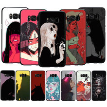 Devil woman Drawing Painting Soft Silicone Case Cover For