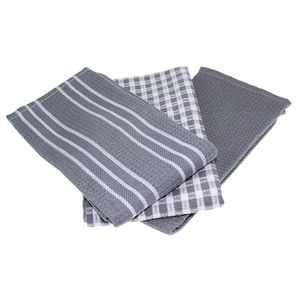 NEW Classic Kitchen Towels  100% Natural Cotton  The Best Tea Towels  Dish Cloth  Absorbent and Lint Free  Machine Washable  18|Cleaning Cloths| |  -