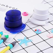 1pc Mini Needleless Stapler Paper Clip Hole Punch Portable Office Stationary School Supplies Rndom Color Stapler Students J7T8