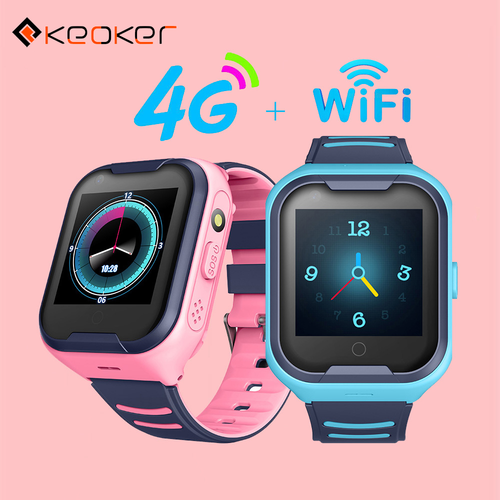Keoker 2019 Kids Smart Watch 4G GPS WIFI Tracking Video Call Waterproof SOS Voice Chat Children Watch Care For Baby Boy Girl-in Smart Watches from Consumer Electronics on AliExpress