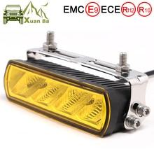 6 Inch 20W Slim LED Work Light Bar Amber Fog Drive Lamps For Offroad Trucks Boat ATV 4x4 4WD Marine Trailer Driving Barra Lights