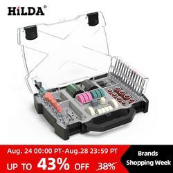 HILDA akcesoria Dremel zestaw narzędzi obrotowych akcesoria do szlifowania szlifowanie polerowanie zestaw narzędzi skrawających do Hilda Dremel
