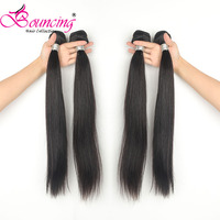 Bouncing Hair Straight Human Hair Extensions 100% Remy Hair 30 32 34 36 38 40 42 50 Inch Peruvian Hair Weave Bundles