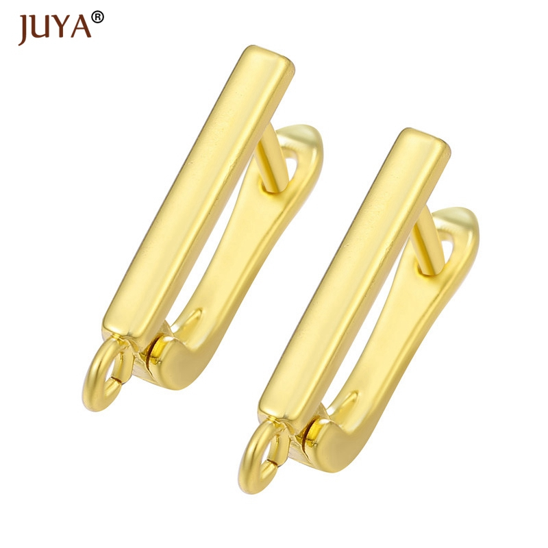 JUYA New Pure Color Gold/Silver/Rose Gold/Black Color Simple Ear Hook For DIY Earrings Jewelry Findings Supplies Wholesale