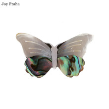 Hot selling vintage abalone shell butterfly brooch /  Delicate women insect corsage